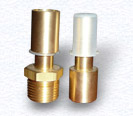 Custom Machined Brass Fitting for HVAC Climate Control